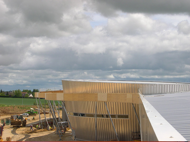 réalisation couverture construction métallique