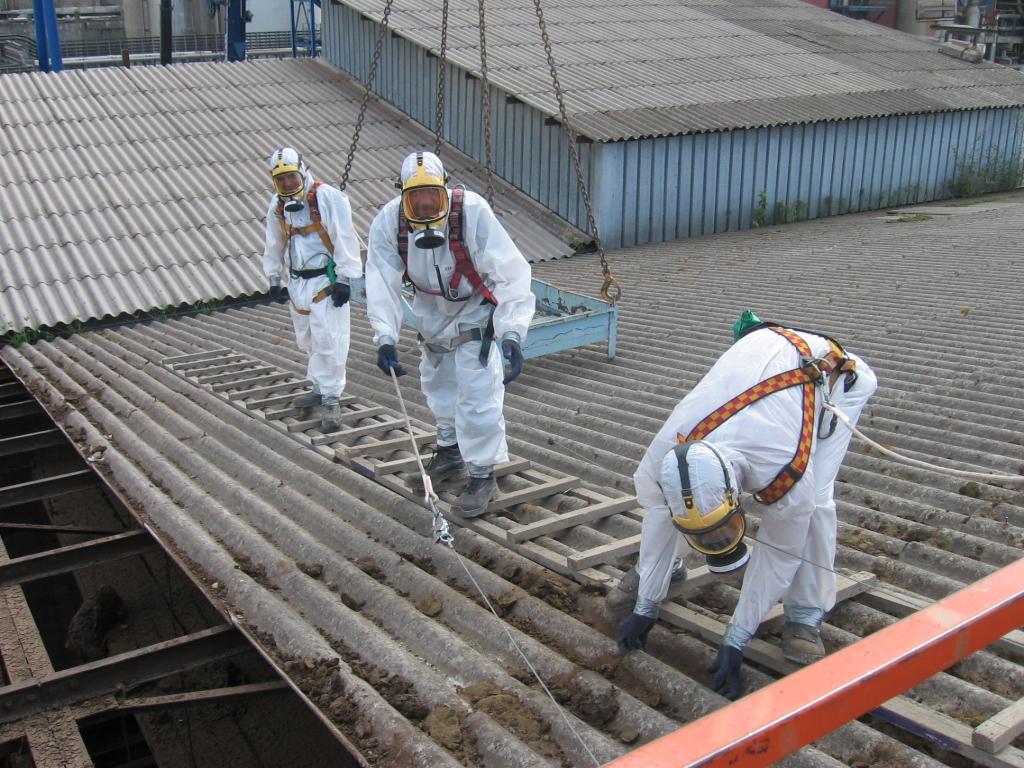 intervention désamiantage construction métallique