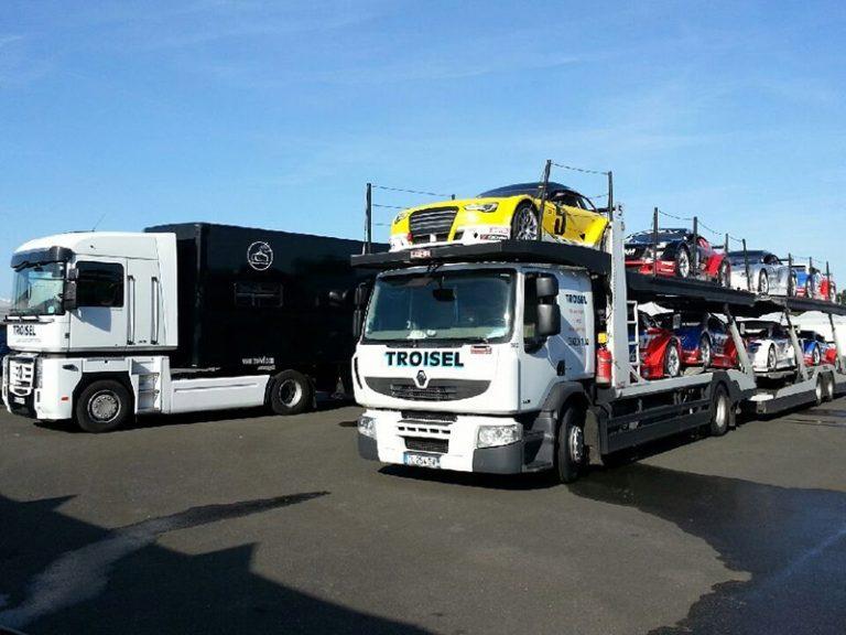 logistique transport véhicule de compétition
